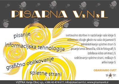Reklama za PISARNO VNL